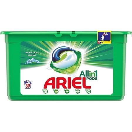 Detergent capsule ARIEL Mountain Spring 39 spalari