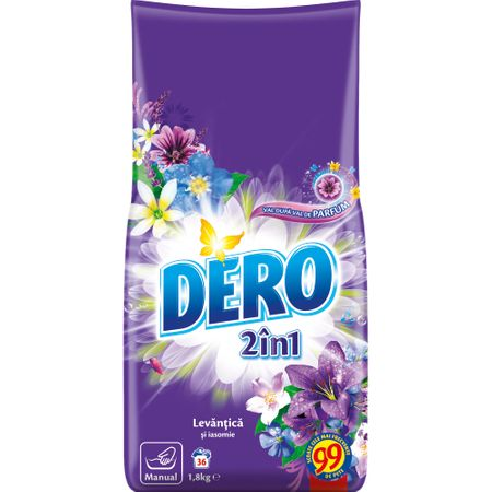 Detergent manual Dero 2 in 1 Levantica si iasomie 1.8kg