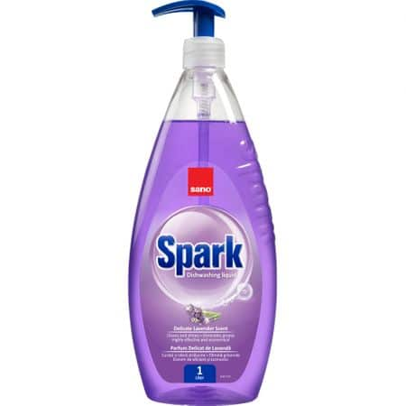 Detergent vase cu pompita Sano Spark Lavanda 1L