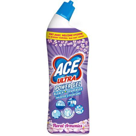 Inalbitor si degresant toaleta Ace Ultra Power gel Floral 750ml