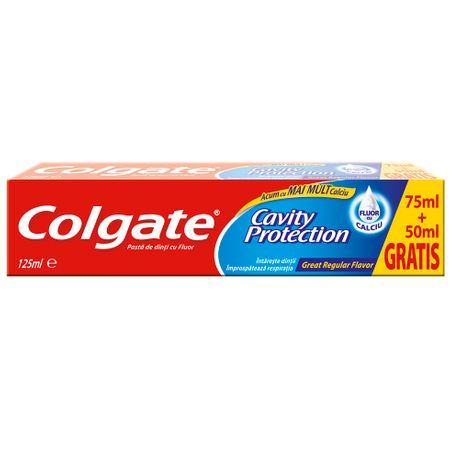 Pasta de dinti Colgate Cavity Protection 75ml + 50ml Gratis