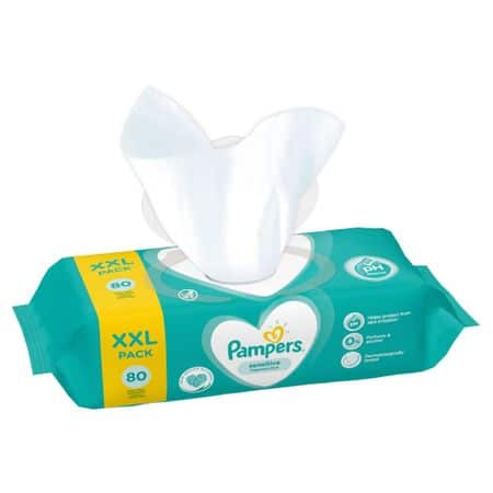 Servetele umede copii Pampers Sensitive XXL pack 80 buc