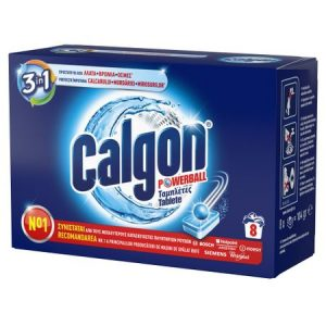 Tablete anticalcar 3 in 1 Calgon Powerball 8 bucati