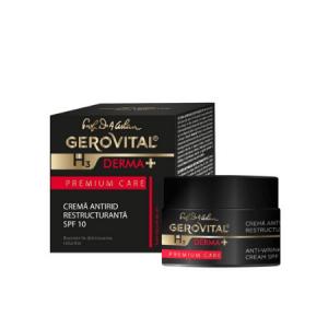 Crema Gerovital Antirid Restructurantă SPF 10 Premium Care
