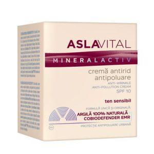 Crema antirid antipoluare - Aslavital Mineralactiv cu SPF10, 50 ml