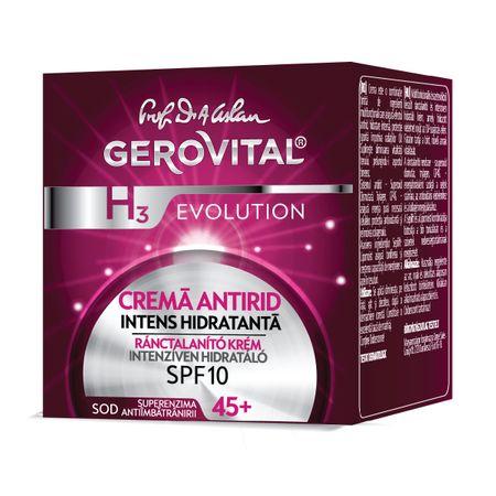 Crema antirid intens hidratanta - GEROVITAL H3 EVOLUTION cu SPF 10, 50 ml