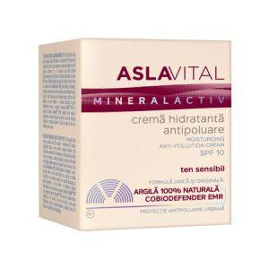 Crema hidratanta antipoluare SPF10 - Aslavital Mineralactiv 50 ml