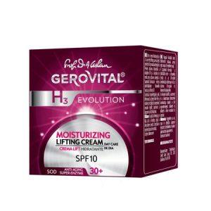 Crema lift hidratanta de zi, GEROVITAL H3 EVOLUTION SPF 10, 50 ml