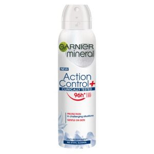 Deodorant spray Garnier Action Control, testat clinic, femei, 150 ml