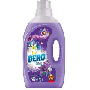 Detergent lichid automat DERO 2 in 1, Lavanda, 2 litri