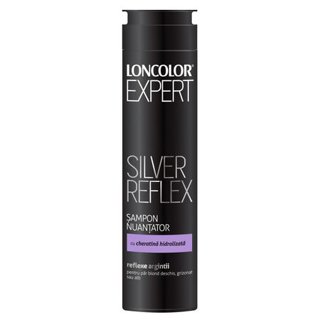 Sampon nuantator Loncolor Expert Silver pentru par blond, grizonat si alb 250ml