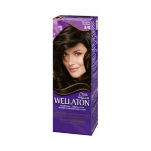 Vopsea de par permanenta Wellaton 3/0 Saten inchis 110ml