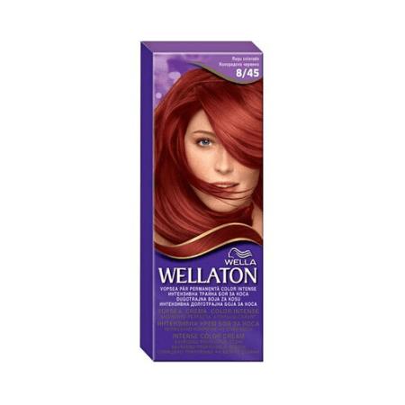 Vopsea de par permanenta Wellaton 8/45 Rosu colorado 110ml