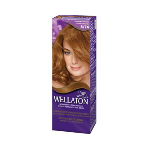 Vopsea de par permanenta Wellaton 874 Ciocolata cu caramel 110ml